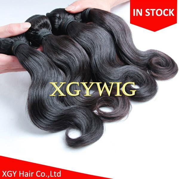 Stock cheap wholesale 100% virgin Remy human hair body wave extension weaving