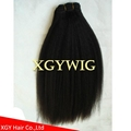Cheap factory wholesale 100% virgin Human Hair Kinky Straight extensions