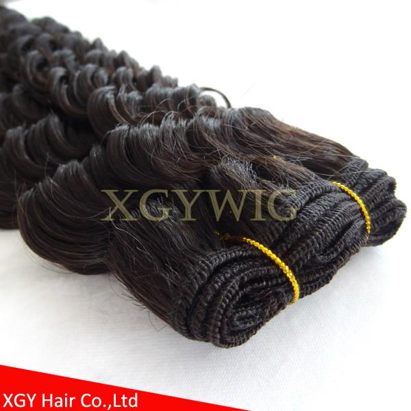 Fast shipping 100% virgin Brazilian Hair Natural color Deep Wave extensions 4