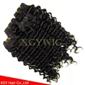 Fast shipping 100% virgin Brazilian Hair Natural color Deep Wave extensions 3