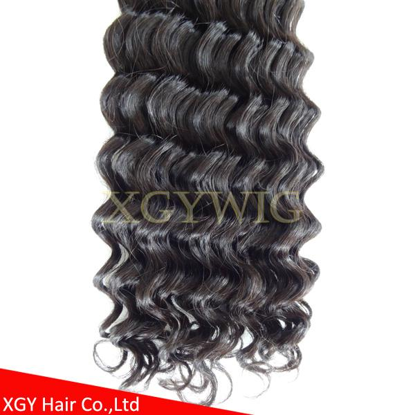 Fast shipping 100% virgin Brazilian Hair Natural color Deep Wave extensions 5
