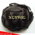 "Cheap Stock 8""x10""/7""x9""/6""x8"" 100% Indian Remy Human Hair Mono toupees for men 5"