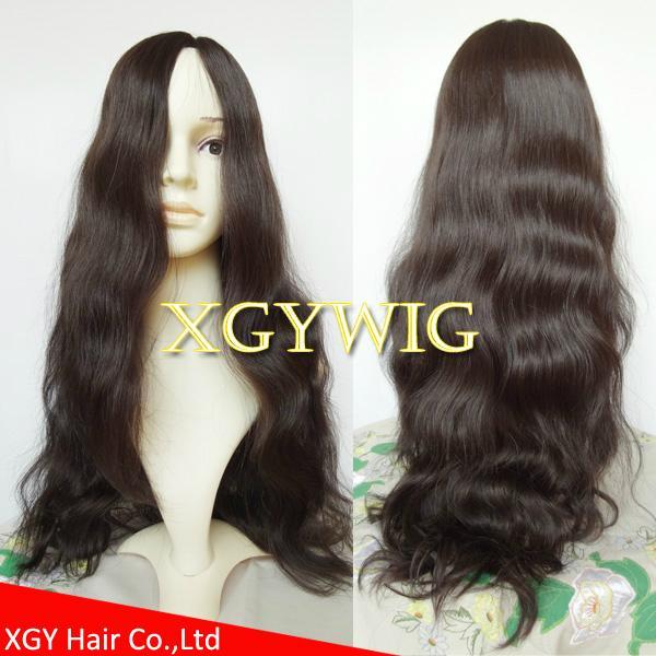 Wholesale 100% virgin European Human Hair Multi-directional Jewish Kosher Wigs 3
