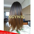 Wholesale virgin Remy Human Hair Ombre Two tone color silk top full lace wigs 5