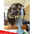Wholesale 100% Indian virgin remy human hair celebrity full lace wig for men 3