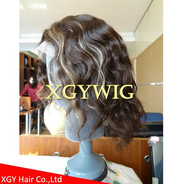 Wholesale 100% Indian virgin remy human hair celebrity full lace wig for men 4