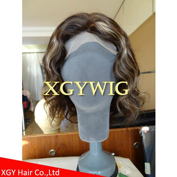 Wholesale 100 Indian Virgin Remy Human Hair Celebrity Full Lace Wig For Men Xgy1009 Xgy