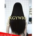 Stock 100% virgin unprocessed Brazilian Hair silky straight full lace wigs