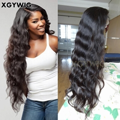 "Stock 8""-30"" 100% virgin unprocessed Brazilian Hair Natural Wave Full Lace Wigs"