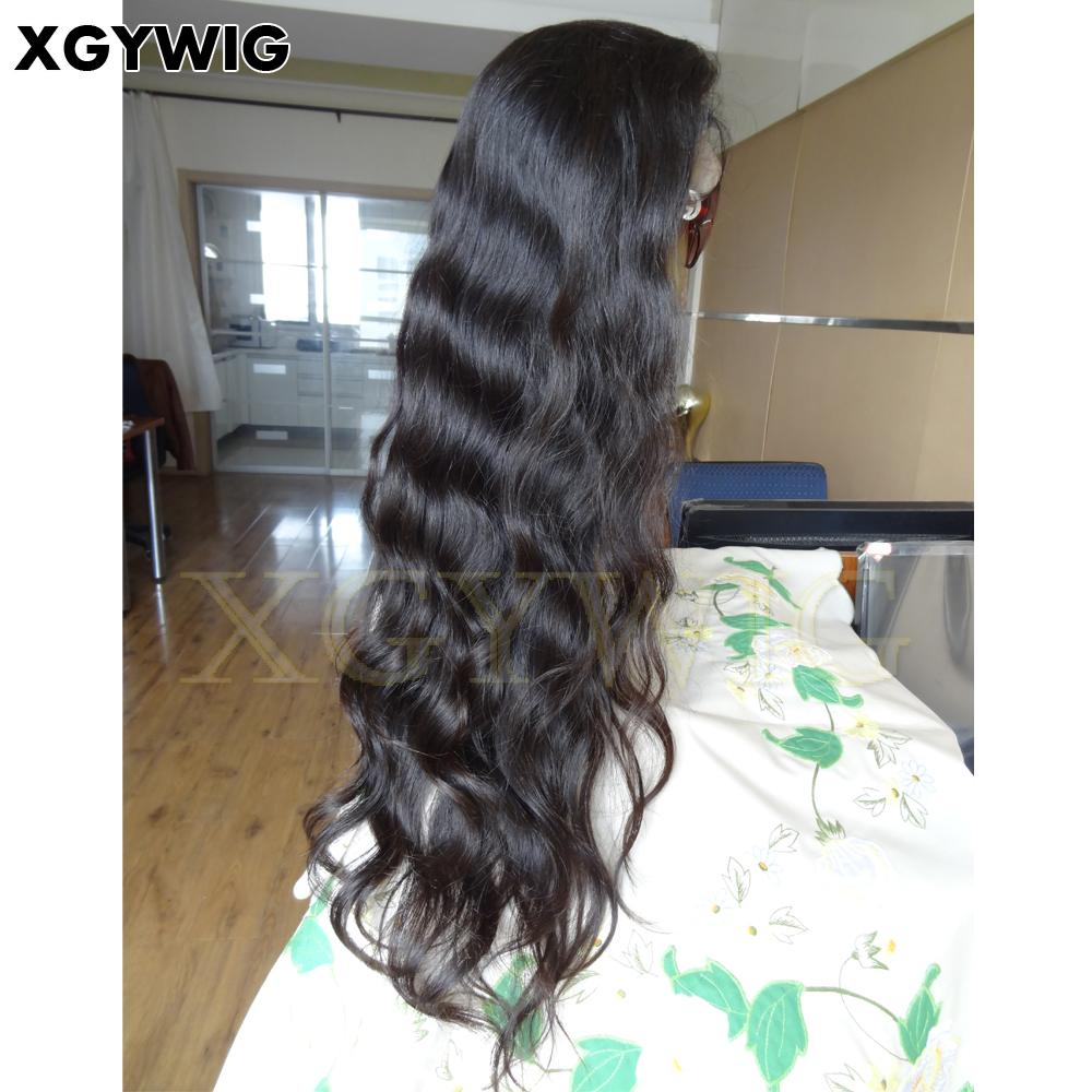 """Stock 8""""-30"""" 100% virgin unprocessed Brazilian Hair Natural Wave Full Lace Wigs 3"""