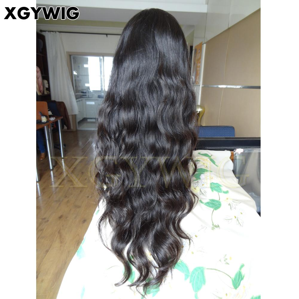 """Stock 8""""-30"""" 100% virgin unprocessed Brazilian Hair Natural Wave Full Lace Wigs 4"""