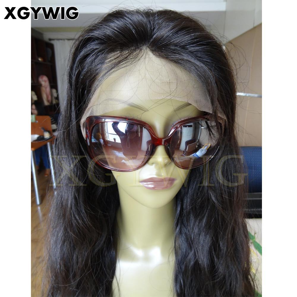 """Stock 8""""-30"""" 100% virgin unprocessed Brazilian Hair Natural Wave Full Lace Wigs 5"""