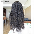 Stock 100% Virgin unprocessed Brazilian hair deep wave glueless lace front wigs 5