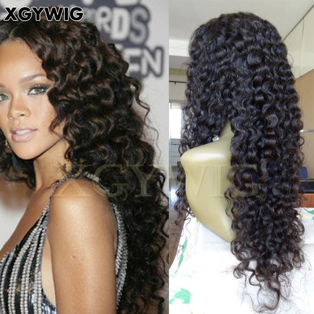 Stock 100% Virgin unprocessed Brazilian hair deep wave glueless lace front wigs