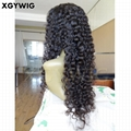 Stock 100% Virgin unprocessed Brazilian hair deep wave glueless lace front wigs 3