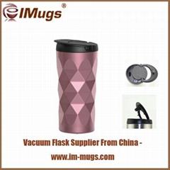 BPA free custom logo stainless steel vacuum wave tumbler