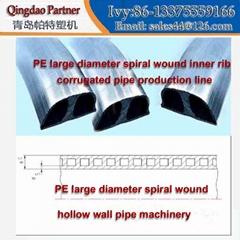 PE大口徑螺旋纏繞內肋波紋管生產線