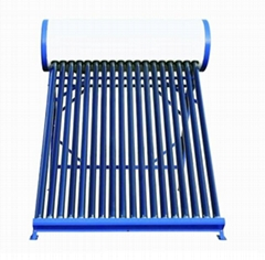 Non-pressurized solar hot water heater solar collector
