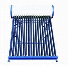 Non-pressurized solar hot water heater solar collector