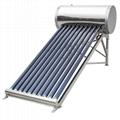 Stainless steel non-pressurized solar