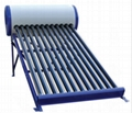 vacuum tube solar water heater with non pressure solar water tank 1