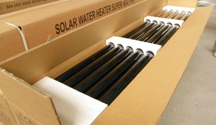 vacuum tube solar water heater with non pressure solar water tank 4