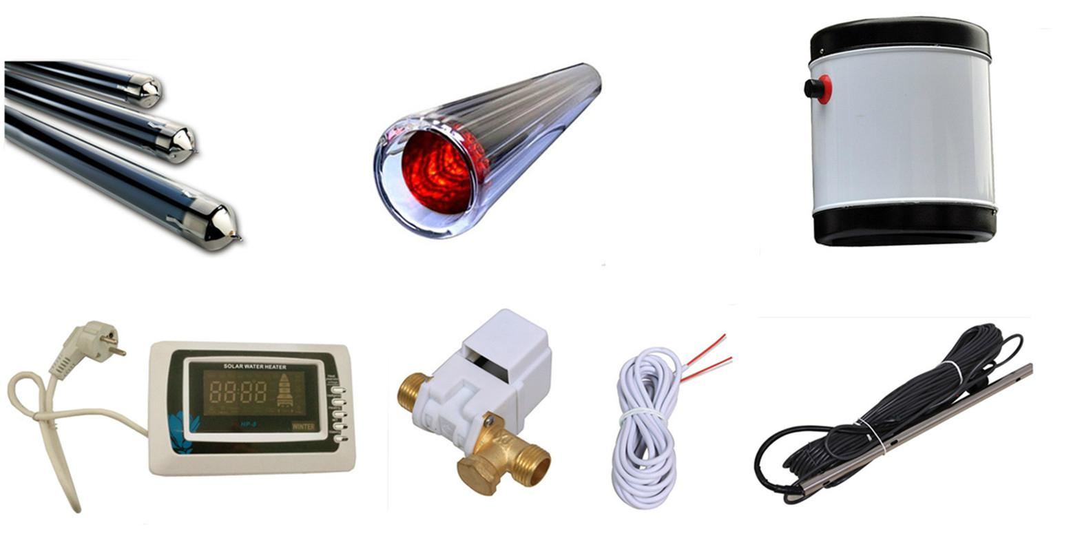 vacuum tube solar water heater with non pressure solar water tank 5