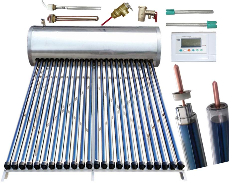 Pressurized Heat Pipe Thermal Solar Water Heater Solar