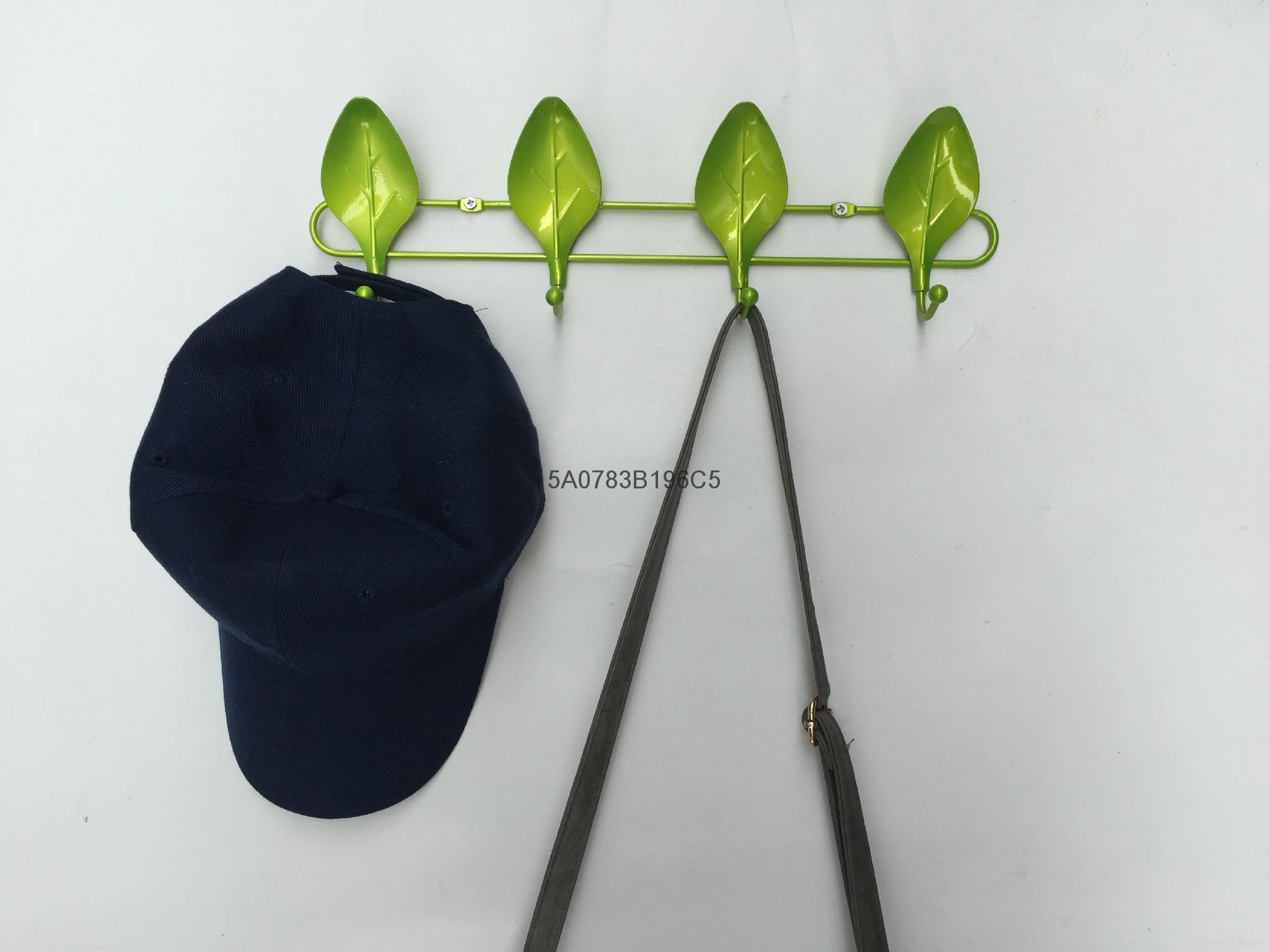 纳米门后钩时尚多色简易钩收纳树叶的纳米衣钩6个挂钩图片