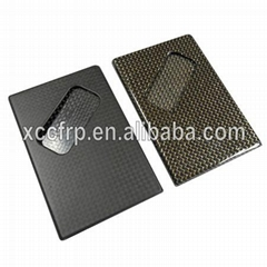 Fashion Gift carbon fibre business card holder