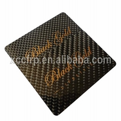 Carbon Fiber Business Name Cards with Custom Logo
