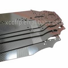 Customized 3K toray CF sheet CNC cutting carbon fiber UAV drone RC chassis parts