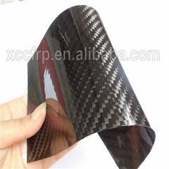 0.2mm 0.3mm 0.4mm 0.5mm Black and colored carbon fiber flexible sheet veneer