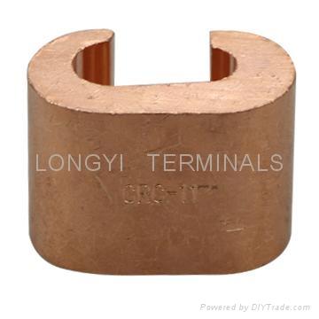 CRC夹CRC4-16铜端子C型夹/电缆接头/铜本色冷压端子 1