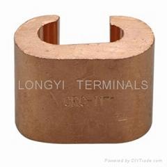 CRC夹CRC4-16铜端子C型夹/电缆接头/铜本色冷压端子