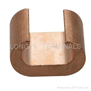 CRC夹CRC4-16铜端子C型夹/电缆接头/铜本色冷压端子 3