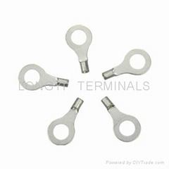 廠O型端子/銅鼻子/裸端子/線耳電線壓緊銅接管銅接線管端子
