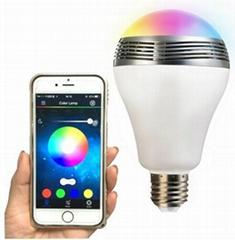 Colorful Bluetooth Bulb Speaker Mini Wireless Portable Bluetooth LED Speaker