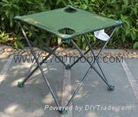 camping folding table with cup holder portable outdoor garden China manufacturer