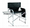 folding director chair with small table