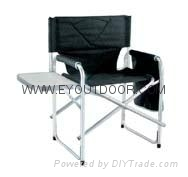 folding director chair with small table & pocket for outdoor camping fishing