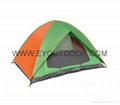Camping tent portable waterproof two man double layer for travel 1