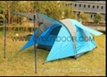 family camping tent  hot selling portable 2 layer waterproof  1