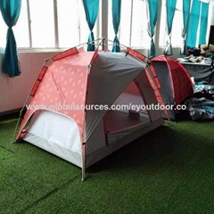 Multi-function color pattern 3-4 Person Tent automatic professional outdoor camp