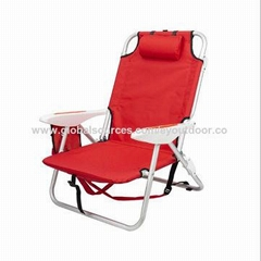 Outdoor travel light aluminum folding backpack recliner folding chair lunch rest
