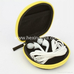 Personalized EVA Leather Earphone Carrying Case