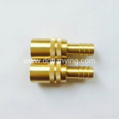 CNC lathe DME brass pipe fitting