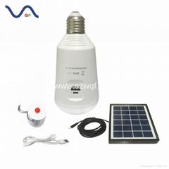 Solar USB Charging Portable LED Emergency Light Bulb