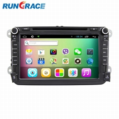 double din VW car dvd player car gps navigation system with wifi