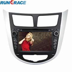 Car Dvd Player for Hyundai Verna Accent Solaris 2011-2012 with Radio Multimedia
